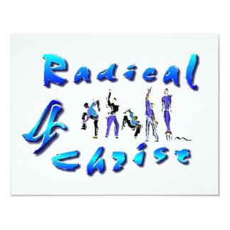 """Radical para Cristo Invitación 4.25"""" X 5.5"""""""