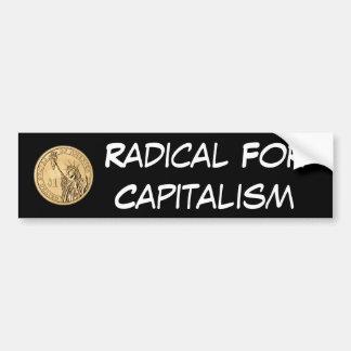 Radical para el capitalismo pegatina para auto