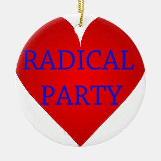 Radical Party Round Ceramic Decoration