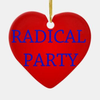 Radical Party Ceramic Heart Decoration