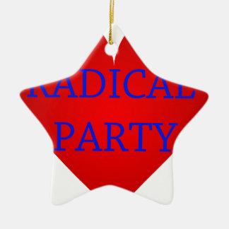 Radical Party Ceramic Star Decoration