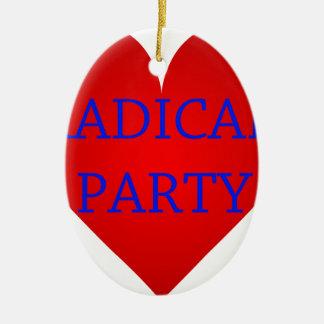 Radical Party Ceramic Oval Decoration