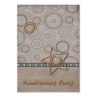 Radical Radial Anniversary Party Card