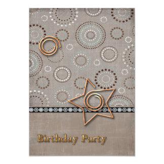 Radical Radial Birthday Party Card