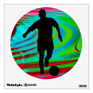 Radical Rainbow Soccer Kick Wall Decal