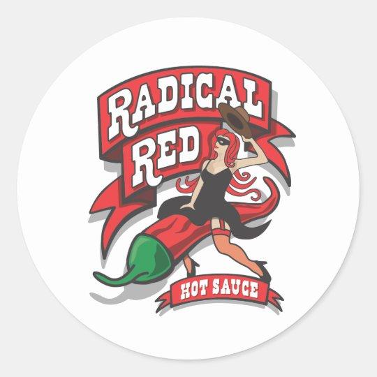 Radical Red Sticker