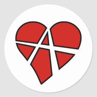 Radical Relations Reckless Heart Anarchy A Love Stickers