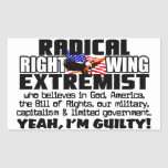 Radical Right Wing Extremist Rectangle Stickers