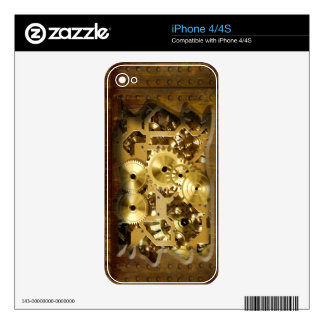 Radical Steampunk 3 Phone Skin Decals For iPhone 4