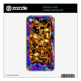 Radical Steampunk 6 Phone Skin iPhone 4 Decal