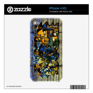 Radical Steampunk 8 Phone Skin Decals For iPhone 4