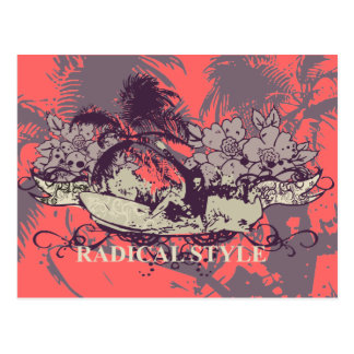 Radical Style Surfing Tshirts and Gifts Postcard