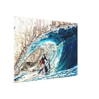 Radical Surfer 1A & 1B Image Options Canvas Print