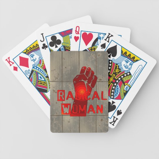 Radical Woman Bicycle Playing Cards