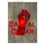 Radical Woman Greeting Cards