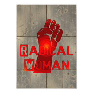 Radical Woman 5x7 Paper Invitation Card