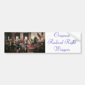 Radicales originales de la derecha etiqueta de parachoque
