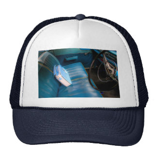Radie en el gorra/el casquillo azules de los asien