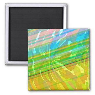 Radient - Golden Rainbow 2 Inch Square Magnet