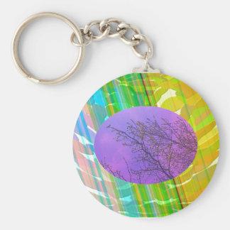 Radient - Golden Rainbow Basic Round Button Keychain