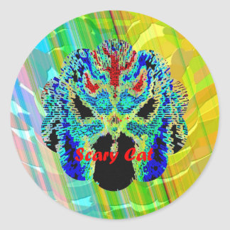 Radient - Golden Rainbow Classic Round Sticker