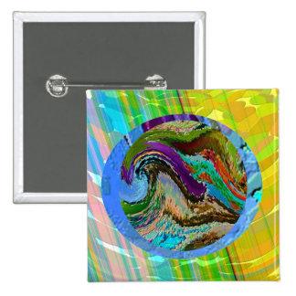 Radient - Golden Rainbow Pinback Button