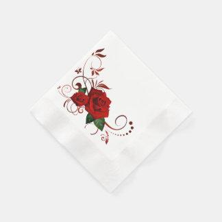 Radient Red Roses Paper Napkin