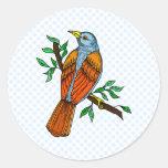 Radient Robin Round Sticker
