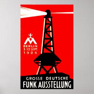 Radio 1926 + Poster de la difusión Póster