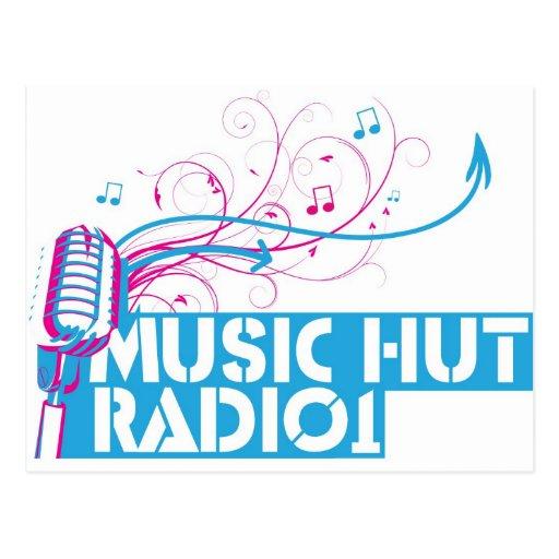 Radio 1 de la choza de la música tarjetas postales