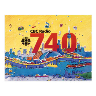 Radio 740 - del CBC gráfico el an o 80 del promo Postales