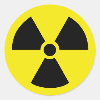 radio active atom energy classic round sticker