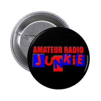 radio aficionada pin redondo de 2 pulgadas