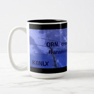 Radio aficionada QRN y taza del indicativo