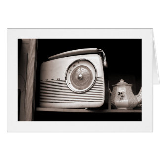 Radio and Teapot Greeting Card