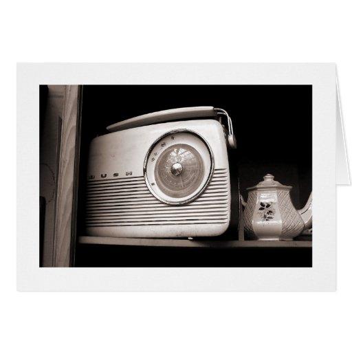 Radio and Teapot Greeting Card