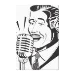 Radio Announcer Canvas Print