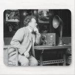 Radio antigua, 1900s tempranos alfombrillas de raton