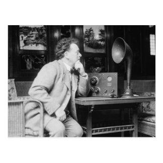 Radio antigua, 1900s tempranos tarjeta postal