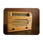 Radio antigua imán de vinilo