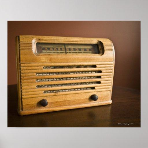 Radio antigua impresiones