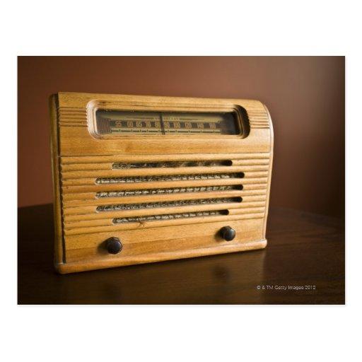 Radio antigua tarjetas postales