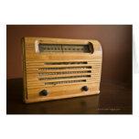 Radio antigua tarjetas