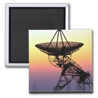 Radio astronomy dish aerial magnets