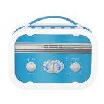Radio azul del vintage