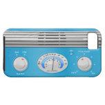 Radio azul del vintage iPhone 5 protector