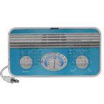 Radio azul del vintage sistema altavoz