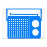 Radio azul fresca invitacion personalizada