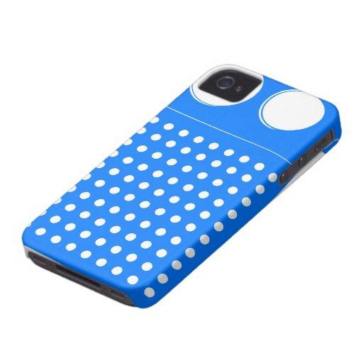Radio azul fresca iPhone 4 Case-Mate cobertura