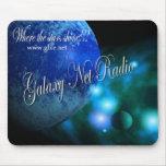 Radio azul Mousepad de la red de la galaxia Alfombrilla De Raton